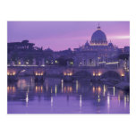Europa, Italien, Rom. St Peter und Ponte Sant Postkarte