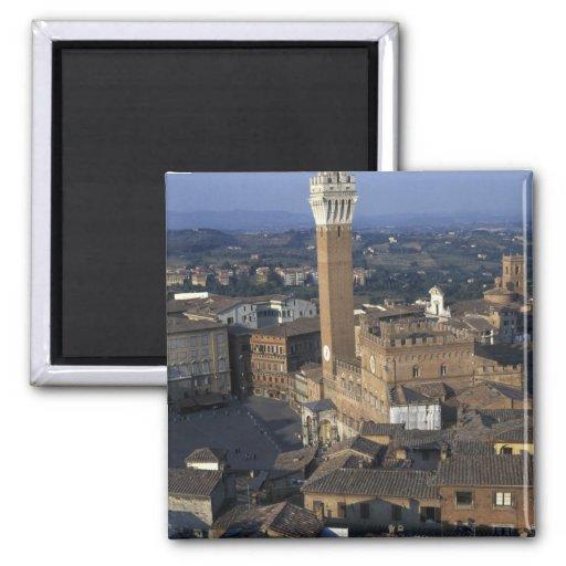 Europa, Italien, Siena. Stadtüberblick Kühlschrankmagnet