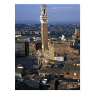 Europa, Italien, Siena. Stadtüberblick Postkarten