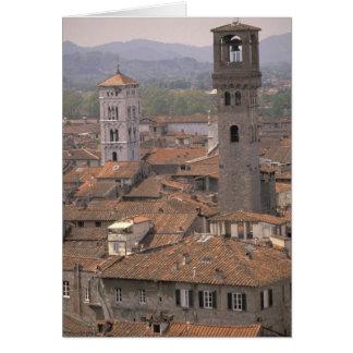 Europa, Italien, Toskana, Lucca, Stadtpanorama Karte