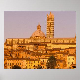Europa, Italien, Toskana, Siena. 13. Jahrhundert 2 Poster
