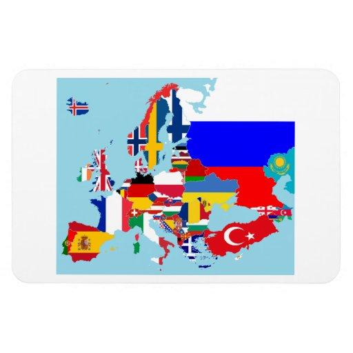 EUROPA-KARTE FLEXIBLE MAGNETE