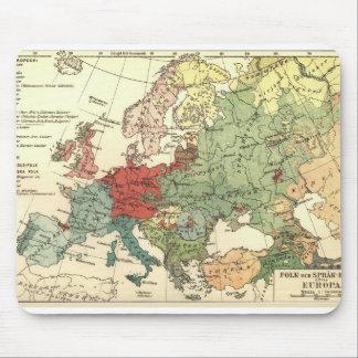 Europa-Karten-Land-Welt Vintag Mauspads