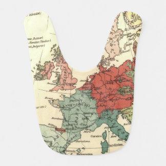 Europa-Karten-Vintage Reise Babylätzchen