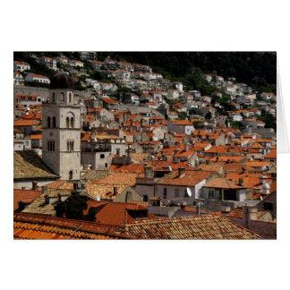 Europa, Kroatien. Mittelalterliche ummauerte Stadt Karte