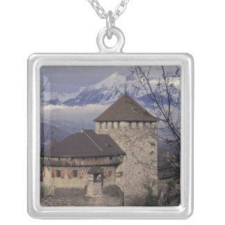 Europa, Liechtenstein, Vaduz. Vaduz-Schloss, Versilberte Kette