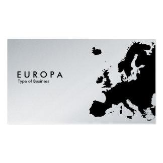 EUROPA - Platin Visitenkartenvorlagen