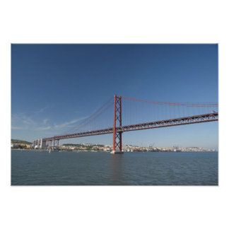 Europa, Portugal, Lissabon alias Lissabon). Ponte Poster
