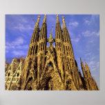 Europa, Spanien, Barcelona, Sagrada Familia Plakat
