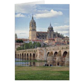 Europa, Spanien, Salamanca. Die römische Brücke Karte