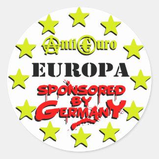 EUROPA Sponsored by Germany Runder Aufkleber
