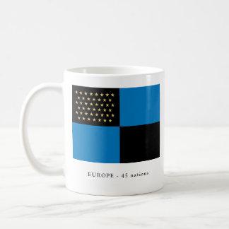Europa-Tasse - 45 Stern-Flagge Kaffeetasse