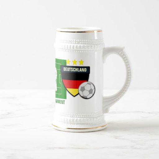 Europäer-Fußball FelsenDeutschland Deutschland Kaffee Tasse