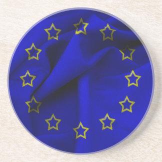 Europaflagge Sandstein Untersetzer
