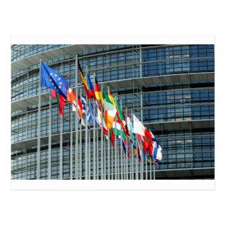 Europäische Flaggen Postkarte