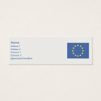 Europäische Gewerkschaft - dünn Mini Visitenkarte