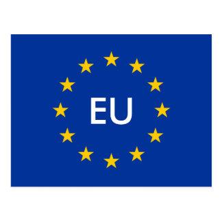 Europäische Gewerkschaft EU kennzeichnen Postkarte