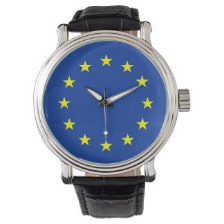 europäische Gewerkschaft Europa der Landflagge Uhr