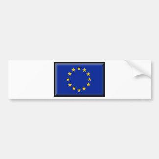 Europäische Gewerkschafts-Flagge Autoaufkleber