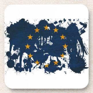 Europäische Gewerkschafts-Flagge Getränkeuntersetzer