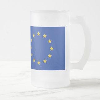 Europäische Gewerkschafts-Flagge Mattglas Bierglas