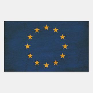 Europäische Gewerkschafts-Flagge Rechteckiger Aufkleber
