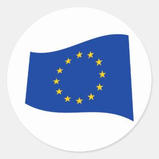 Europäische Gewerkschafts-Flagge Runder Aufkleber