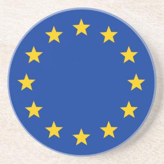 Europäische Gewerkschafts-Flagge Sandstein Untersetzer