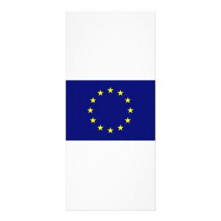 Europäische Gewerkschafts-Flagge Werbekarte