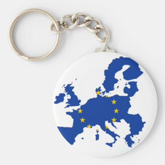 Europäische Gewerkschafts-Flaggen-Karte Standard Runder Schlüsselanhänger