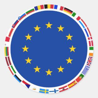Europäische Gewerkschafts-Flaggen Runder Aufkleber