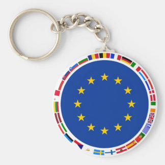 Europäische Gewerkschafts-Flaggen Schlüsselanhänger
