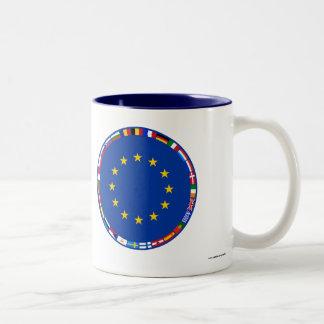 Europäische Gewerkschafts-Flaggen Zweifarbige Tasse