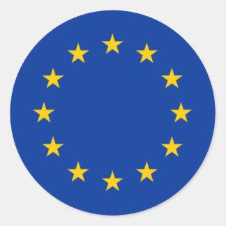 Europäische Gewerkschafts-Sterne Runder Aufkleber