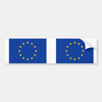 Europäische Gewerkschaftsflagge E. - Autoaufkleber