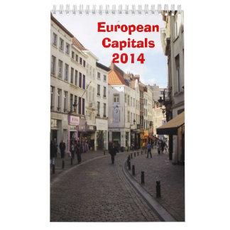 Europäische Hauptstädte - 2014 Wandkalender