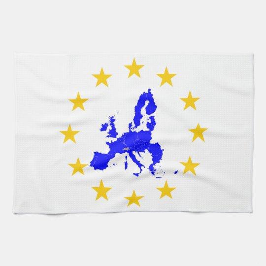 Europäische Union Geschirrtuch