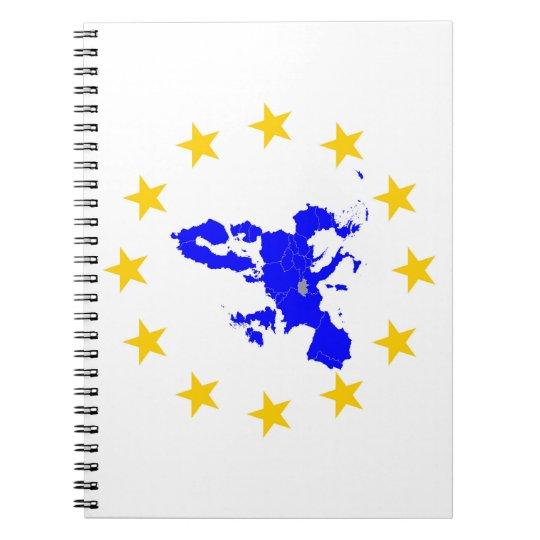 Europäische Union Notizblock