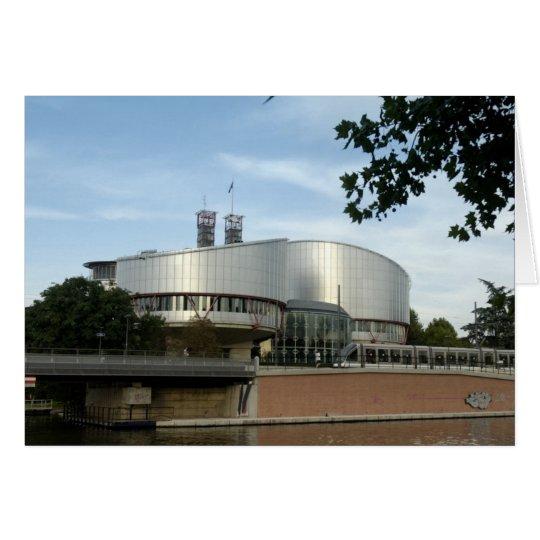 Europäischer Gerichtshof Straßburg Ansichtskarte Karte