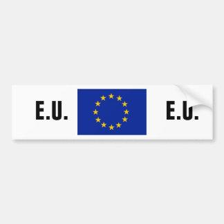 Europäischer Gewerkschafts-Autoaufkleber Autoaufkleber
