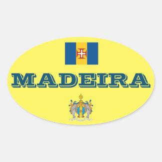 Europäischer ovaler Art-Aufkleber Madeiras Ovaler Aufkleber