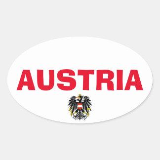 Europäischer ovaler Art-Aufkleber Österreichs Ovaler Aufkleber