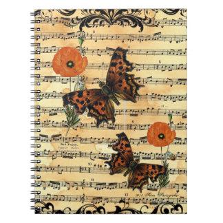Europäischer Schmetterling mit Notizblock