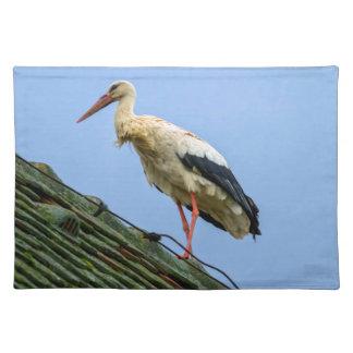Europäischer weißer Storch, Ciconia Stofftischset
