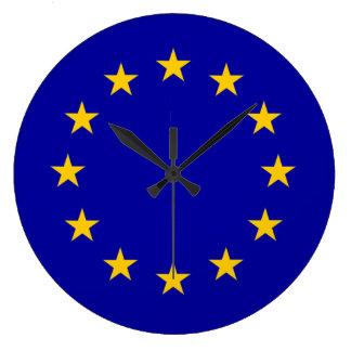 Europäisches Gewerkschaftsblau E. - mit Große Wanduhr