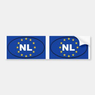 Europäisches Gewerkschaftsoval der Niederlande NL Autoaufkleber