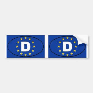 Europäisches Gewerkschaftsoval Deutschlands Autoaufkleber