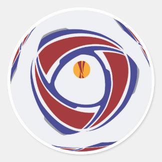 EuropaLeague Ball-Aufkleber Runder Aufkleber