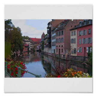 Europastadt Strassburg Poster