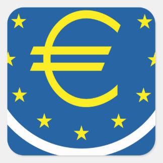 Eurosymbolismus - europäisches Vermächtnis Quadratischer Aufkleber